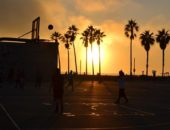 Sunset-Sport-Basketball-Court-Game-Basketball
